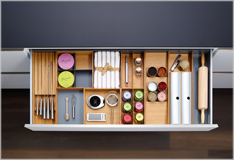 Versatile organizer system for contemporary kitchens!